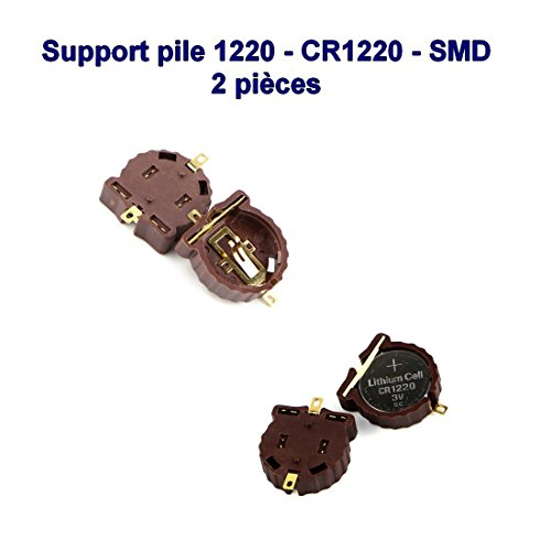 2x Support pile 1220 - CR1220 - 2 pins - SMD - a souder 98pri006
