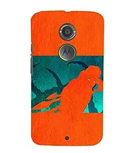 EPICCASE the monster Mobile Back Case Cover For Moto X 2nd Gen (Designer Case)