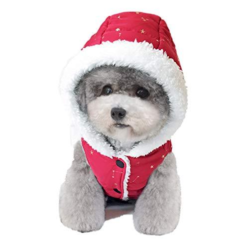 WFY Invierno Perro Mascota Cálido Algodón Chaleco