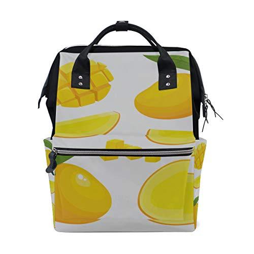 Reife gelbe Mango Frucht große Kapazität Windel bauscht sich Mummy Rucksack multi Funktionen Windel Pflegetasche Tote Handtasche für Kinder Babypflege Reise tägliche Frauen -