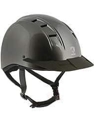 Horka ajustable casco de equitación Safetey 49–61cm, Gris (Metal), large/extra-large