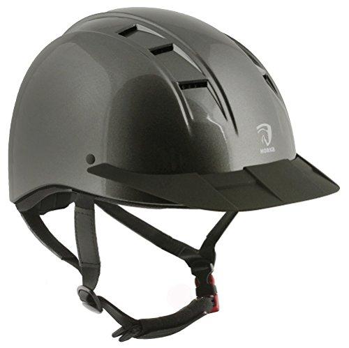 Horka Equestrian Comfort Fit Atmungsaktive Event Champion Slim Rider Sicherheit Helm, metall