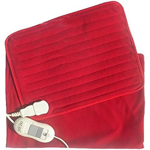R&R Rilievo di riscaldamento per Quick sollievo dal dolore con Fast-riscaldamento Tecnologia, 3 impostazioni di temperatura , red mat 30*40cm