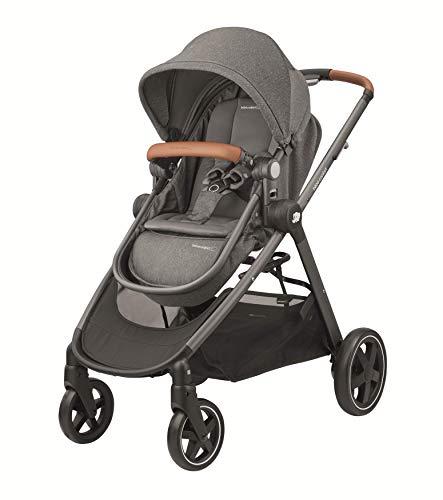 Bébé Confort ZELIA \'Sparkling Grey\' - Cochecito de nacimiento hasta los 3,5 años, color gris oscuro - Cochecito desde el nacimiento, Urbano, color gris oscuro