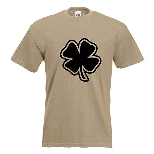 KIWISTAR - Kleeblatt - Glück T-Shirt in 15 verschiedenen Farben - Herren Funshirt bedruckt Design Sprüche Spruch Motive Oberteil Baumwolle Print Größe S M L XL XXL Khaki