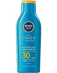 Nivea Sun Schutz & Frische Erfrischende Sonnenlotion ohne Fetten, Lichtschutzfaktor 30, 1er Pack (1 x 200 ml)