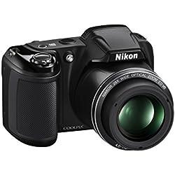 "Nikon Coolpix L340 Fotocamera Digitale Compatta, 20 Megapixel, Zoom 28X, LCD 3"", HD, Nero [Nital Card: 4 Anni di Garanzia]"