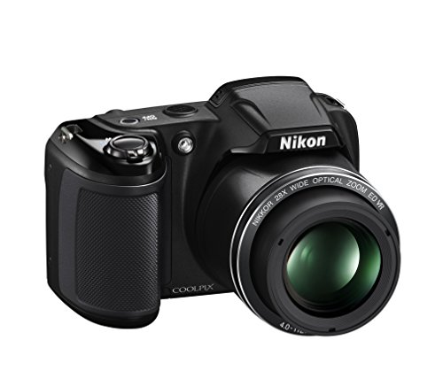 NIKON COOLPIX L340 - CAMARA COMPACTA DE 20 MP (PANTALLA DE 3  ZOOM OPTICO 28X  ESTABILIZADOR ELECTRONICO  VIDEO HD)  NEGRO
