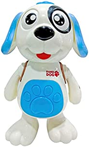 Popsugar Musical Dancing Dog with Flashing Lights Toy for Boys and Girls, White