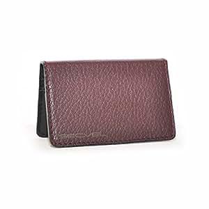 SECVEL - Porte-cartes authentique cuir edition – protection RFID/NFC et champs magnétiques - Bordeaux (pour 2 à 4 cartes)