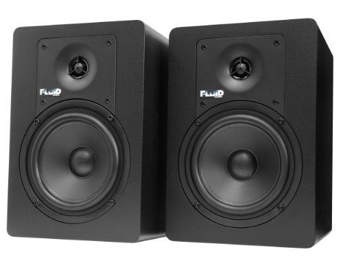 FLUID AUDIO C5 CLASSIC SERIES - MONITORES DE ESTUDIO DE 20W (ACTIVOS)  COLOR NEGRO