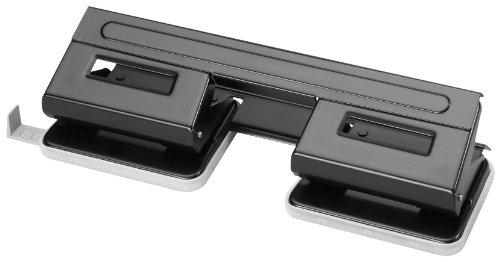 Herlitz 1610880 Doppel-Locher 1,5 schwarz mit Anschlagschiene