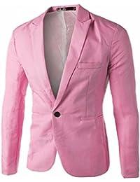 KaloryWee Blazer para hombre Casual Slim Fit un boton de abrigo chaqueta Hombres Moda,Blazer para Hombre