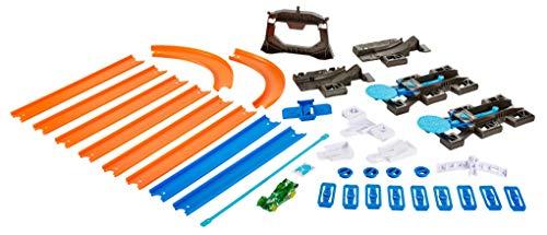 Hot Wheels DGD29 Track Builder Starter Set, Spielzeug Looping Rennbahn mit Starter und Verbindungsteilen inkl. 1 Spielzeugauto, ab 4 Jahren (Hotwheels Track Builder)