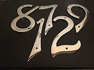 Golden Grace 10.16 cm Ziffern, Kursiv, Schraube Poliertes Chrom-Finish, Nr. 2