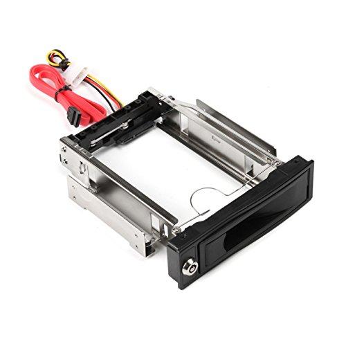 """Salcar 3.5"""" Wechselrahmen - SATA I/II/III HDD Fesplattenrahmen im 5.25"""" Laufwerksschacht"""