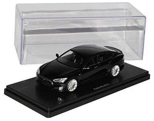 Schuco Tesla Model S Limousine Schwarz Ab 2012 Pro.R43 1/43 Modell Auto mit individiuellem Wunschkennzeichen