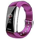 Fitness-Tracker Smart Sport Armband Bluetooth Wasserdichte SchrittzäHler Musik MäNner Und Frauen Smart Watch FüR Android Und Ios-Schwarz/Blau / Lila/Orange