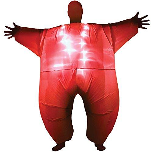 Morph Costumes Costume rosso gonfiabile con luci, taglia unica
