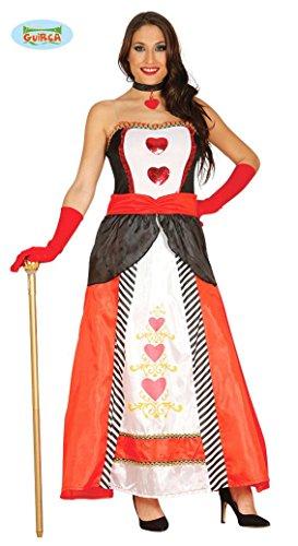 Prinzessin der Herzen Spielkarte Kostüm für Damen Karneval Dame Fasching Herz Gr. M/L, Größe:M