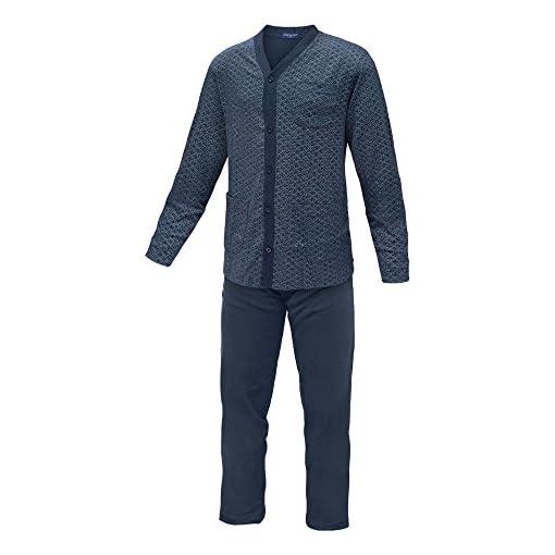 Pigiama-Uomo-NOTTINGHAM-Linea-Classic-Caldo-Cotone-Taglie-da-XL-a-5XL-Art23269