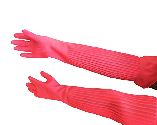 guanti lunghi lattice Hangnuo - Guanti al gomito