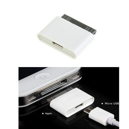 Micro USB a 30 pin femmina/male caricabatterie per Apple iPhone 4S/iPad/iPod
