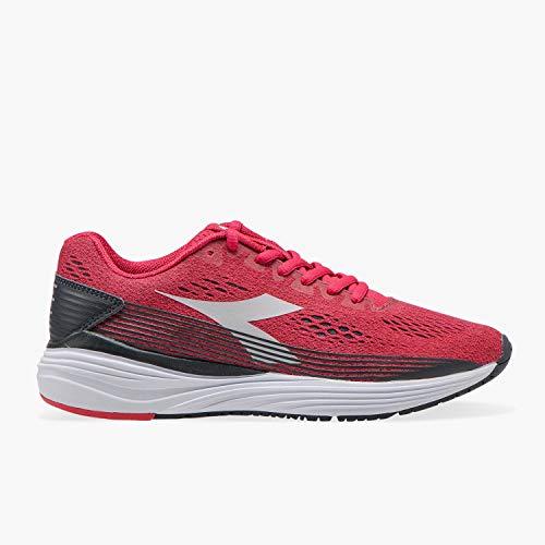 Diadora Kurura 3 W - Scarpe da Corsa, Running, Atletica, Scarpe da Donna 173384_C7860, Virtual Pink/White, Rosso, 38