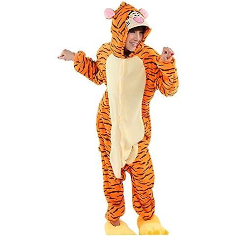 Happy Cherry Franela Disfraz de Animal Cosplay Hombre Mujer Pijama Mono Pajama Costume - Dinosaurio/Jirafa/Cerdo/Gato/Tigre/Vaca/Oso
