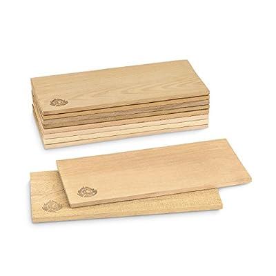 Räucherbretter aus kanadischem Zedernholz, Grillbretter, Set glatte und raue Oberfläche, unbehandelt, Gratis Rezept (PDF) -