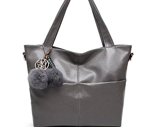 YTTY Einfache Große Tasche,grau