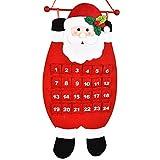 Weihnachtsmann Adventskalender LUOEM Weihnachtskalender zum Aufhängen Christbaumanhänger Hängende Weihnachtsmann Dekoration
