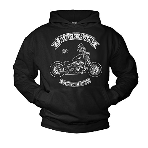 Makaya pullover con cappuccio custom chopper felpa harley moto uomo l