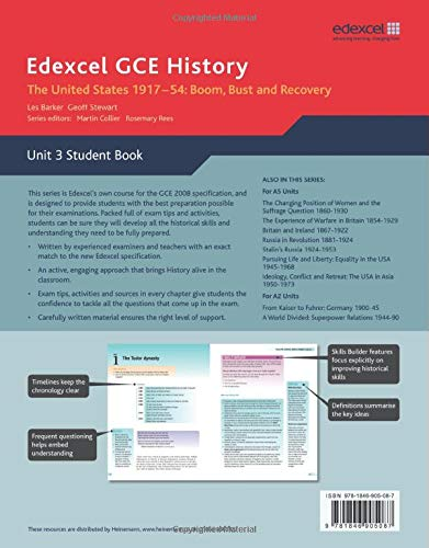 Edexcel GCE History: Boom Bust & Recovery