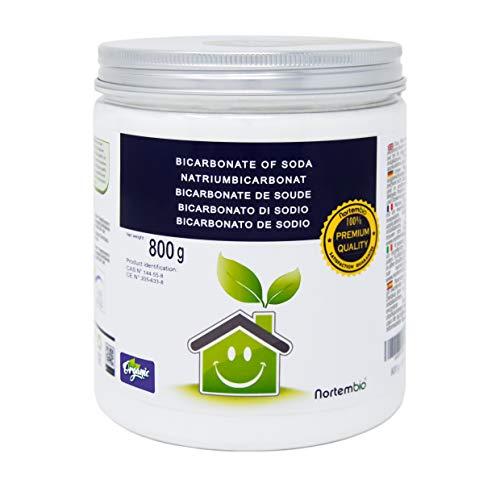 Natron NortemBio 800 g. Premium Natriumhydrogencarbonat in Pharmazeutischer Qualität. Ökologischer Input aus natürlichem Ursprung. Natriumbicarbonat. Aluminiumfrei. E-Book Inklusiv.