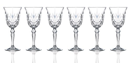 RCR Weinglas-Set, Crystal Melodia Collection Water Red Wine Stem Crystal Drinkware Collection