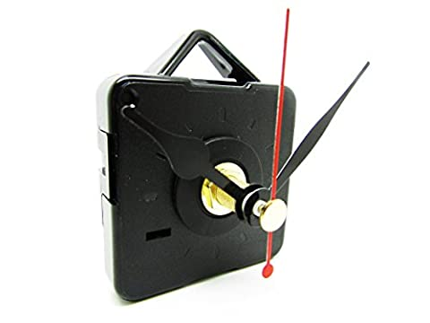 Replacement Short Quartz Non Ticking Clock Movement Mechanism Motor & Metal Hands & Fittings - DIY (47mm,