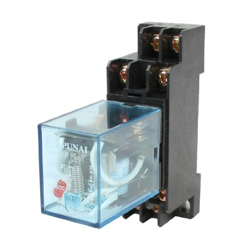 HH52P 110 / 120VAC Coil DPDT 8 pins Elektromagnetische Vermogen Relais w DYF08A base (120v Coil)