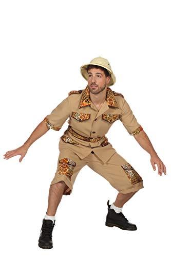 Safari Kostüm Herren Hemd und Hose (ohne Hut) Archäologe Karneval Fasching Hochwertige Verkleidung Fastnacht Größe 58 ()