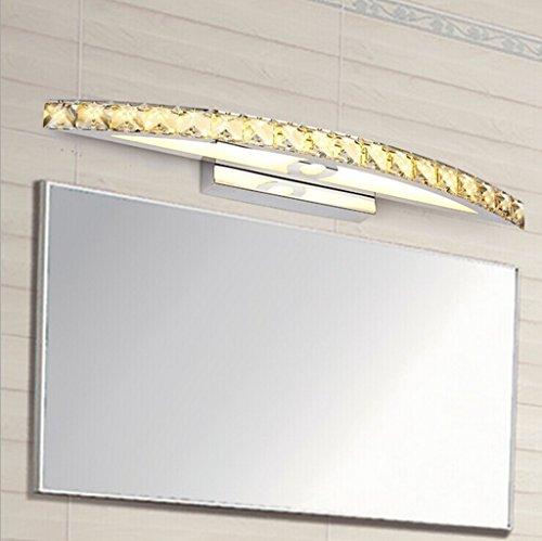 Longless Einfach WC Spiegelleuchten LED Kristall Bad Wasser Nebel Edelstahl 54CM - Wasser-bad-kristalle