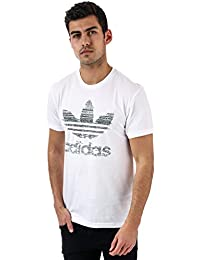 97005985383c adidas Originals Mens Traction in Action Trefoil T-Shirt in White