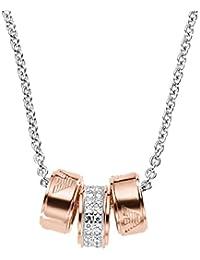 Emporio Armani EG3045040 - Joyería de plata de ley con circonita