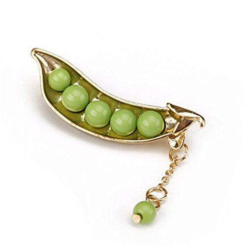 (SHIJIAN Grüne Erbsen Perle Diamant Brosche Schals Schal Clip Schal Schnalle Kleidung Dekoration Schmuck Broschen Pins Für Mädchen und Damen)