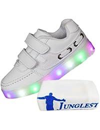 [Present:kleines Handtuch]Rosa EU 35, leuchten LED weise Glow Turnschuhe Kind Lade Flashing Schuh laufen JUNGLEST® USB