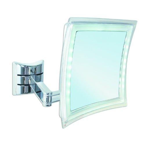 Enzo Rodi 411210 LED-Kosmetikspiegel Palini / 16 x 16 cm / chrom Batteriebetrieb