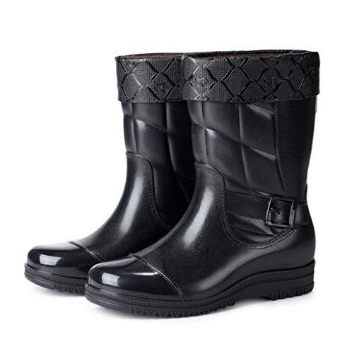 Knöchel Bootie Boot (MSSugar Herren Short Leg Half-Height Gummistiefel rutschfeste Knöchel Regen Boot wasserdichte Booties Car Wash Schuhe,A,42)