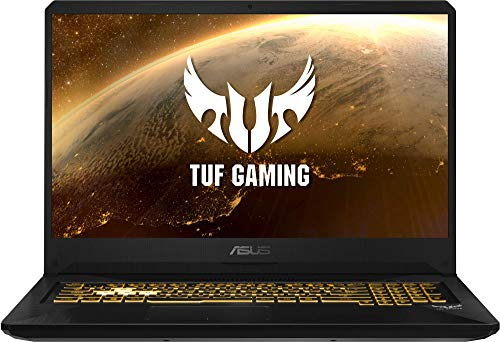 """ASUS TUF Gaming FX705DD-AU017 - Ordenador portátil de 17.3"""" (AMD Ryzen 7 3750H APU, 8 GB RAM, 512 GB SSD, NVIDIA GeForce GTX1050, sin Sistema operativo) Negro - Teclado QWERTY Español"""