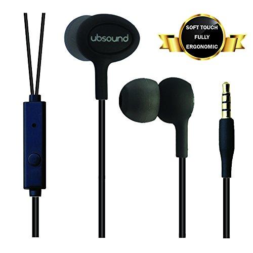 Ubsound smarter pro - cuffie auricolari in-ear ergonomiche (iem) con microfono - connettore standard 3,5mm - leggere e soft-touch - cavo anti-nodi - garanzia 2 anni - nero (klim finishing)