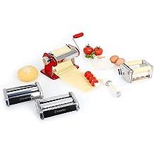 Klarstein Siena Rossa máquina para Pasta (Acero Inoxidable, Rodillo amasador, fácil de Limpiar