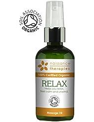 Naissance Huile de Massage Certifiée BIO Relaxation - 100ml - aux Huiles d' Argan, Jojoba et Camomille